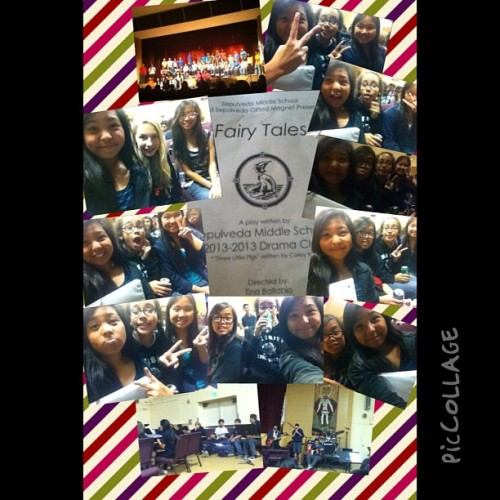 Watched the drama play with these gals today~ :D it was actually pree funny and cute. And today was just good overall 😜😊 #FBF5evah #moondance #nutterbutter #5thperiod #piccollage