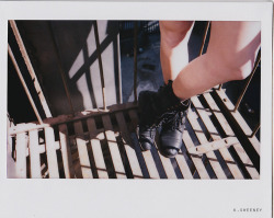 hannah on the fire escape. brooklyn, march 2013.  kate sweeney photography.