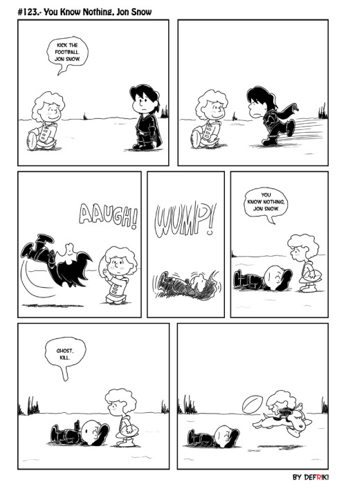 coiaf:  Peanuts/ASoIaF mashup :) You Know Nothing, Jon Snow by ~Defriki