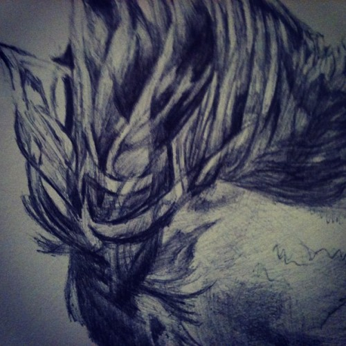 Hair! #art #bic #scribbling