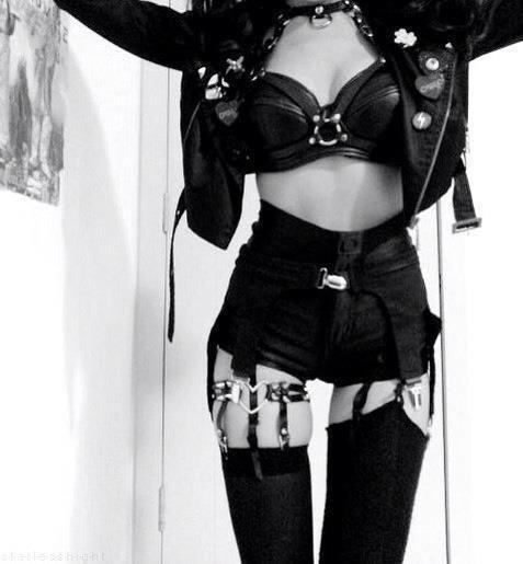 gothicstyle goth gothic nu goth goth girl all black punk girl punk rock punk dark girl dark harness choker