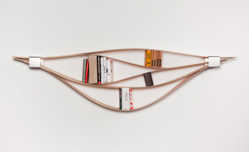 nevver:  Flexible Wooden Bookshelf