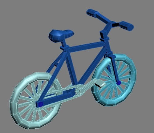 Its a Bicycle! Pretty much done, only need to optimise and clean the mesh.Probably going to chamfer a bunch of edges to make the frame less square as well. 5th model, been working with 3dsmax fully for about a week. Not too shabby I guess.