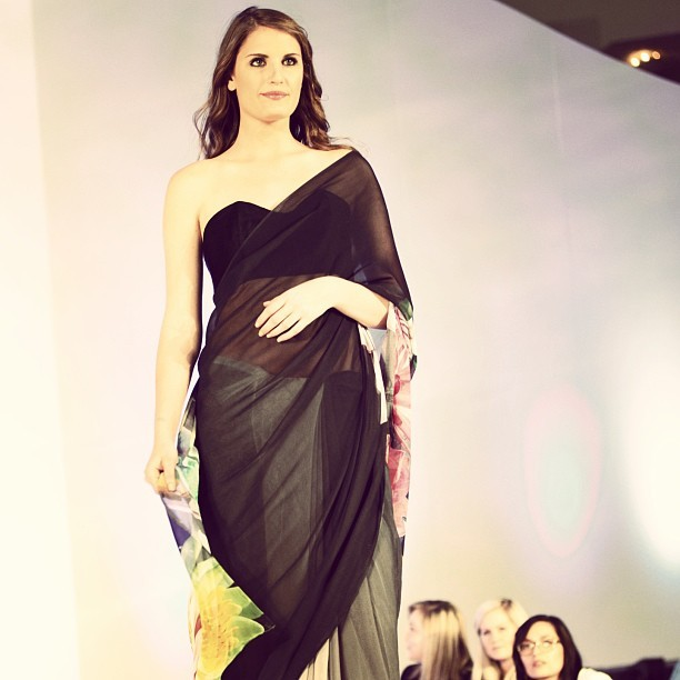 UURMI Ombre Orchids sari in the Emerging Designer show #atlantaapparel #uurmisari (at Atlanta, GA)