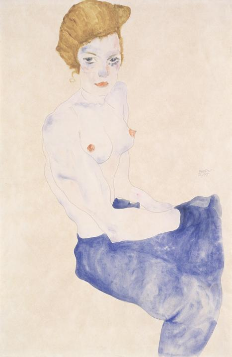 Egon Schiele, Seated Blue Nude, 1911