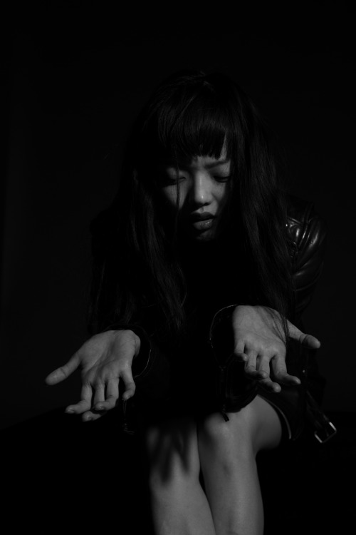 blkdnm:  A PORTRAIT OF RILA FUKUSHIMA. PHOTOGRAPHED BY JOHAN IN TOKYO.  LEATHER JACKET 1.