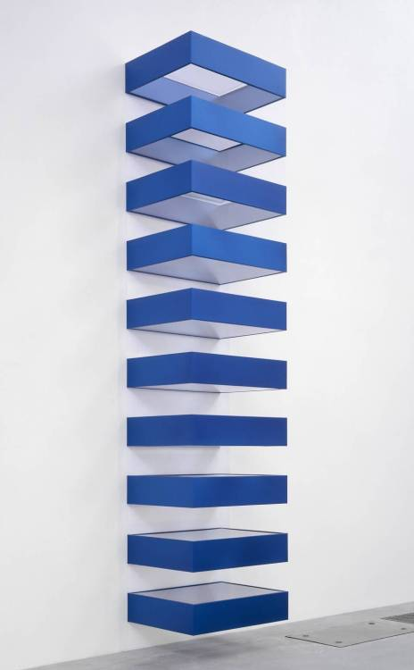 thingsorganizedneatly:  frostedwindows: Donald Judd, Untitled (1990)