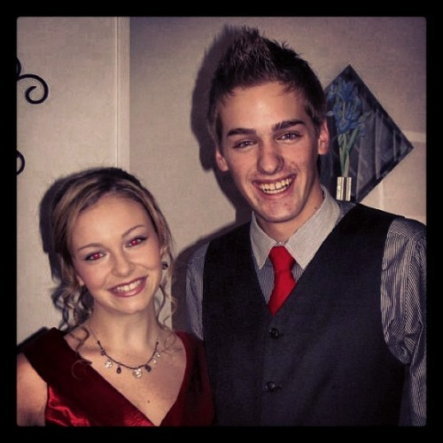 Of course @kgolol and I would match to Senior Banquet! #tbt #throwbackthursday #senioryear #banquet #memories
