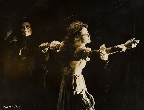 beautyandterrordance:  The Phantom of the Opera (1925) According to Charles Van Enger, Chief Cinematographer of the film and one of Lon Chaney's most trusted associates, Mary Philbin's reaction to the unmasked Phantom was real - that she had no idea what he would look like until that exact moment. (via)