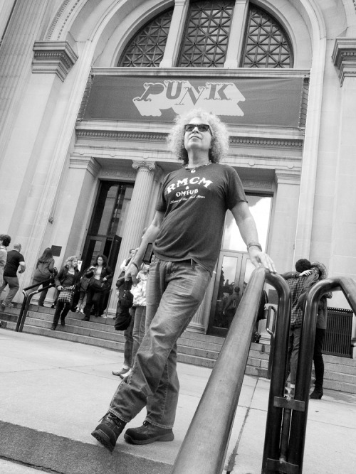 "Me at The Met yesterday after checking out ""Punk Chaos to Couture"". Photo by Marius Troy"