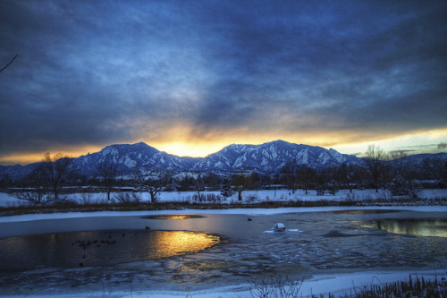 Frosted Flatirons by Zach Dischner on Flickr.