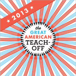 Last Call: Nominate Your Favorite Teacher for the Great American Teach-Off- GOOD Partnerships wrote in in Education and Great American Teach Off It's almost the end of the nomination period for the 2013 Great American Teach-Off. Have you nominated your favorite teacher yet? GOOD and University of Phoenix have teamed up to support and celebrate everyday teachers that go beyond the curriculum to find innovative and creative ways to engage students. Don't miss this chance to tell us about your favorite teacher by February 15 noon PT so that he or she gets the opportunity to win a $10,000 classroom grant. It's only three days away until the submission period ends and judging begins to select 20 finalists each in grades K through 6 and 7 through 12, so if you know a teacher that has made a positive impact on you, your child, or community, nominate him or her (it can even be you) to participate. Let's recognize teachers that are not only changing the lives of their students, but also their community. We want to hear all about the teachers that are integrating technology into the classroom, doing community outreach with their students, or pushing their students to learn and think in different ways so that they can graduate successfully and achieve beyond the classroom. Consider the Great American Teach-Off as a way to give your favorite teachers some of the best report cards they've ever had. After the top 20 finalists are announced, voting opens on March 4 and in a course of five weeks, the GOOD community will vote for their favorite teacher. At the end of the five weeks, the top voted K through 6 teacher and top voted 7 through 12 teacher will each receive a $10,000 classroom grant. Think about how the teachers in your community have positively affected their students' futures and watch profiles of last year's winning teachers, Terry Dougherty and Daryl Bilandzija, to get inspired. Remember, you have only until February 15 noon PT to make your nomination count. You can join the conversation with this challenge on Twitter at @GOODmkr and @TeachOff via #teachoff. This post is brought to you by GOOD with support from University of Phoenix