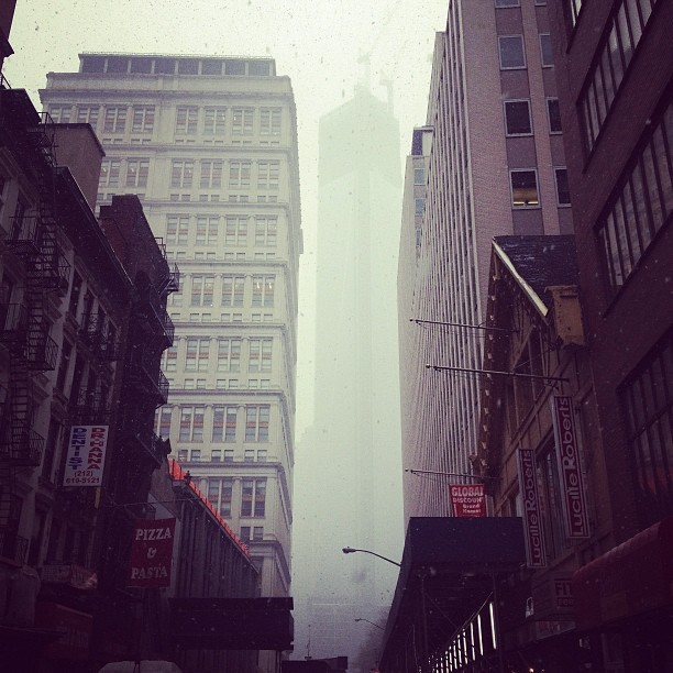 World Trade Whiteout #snowday (at Fulton St)