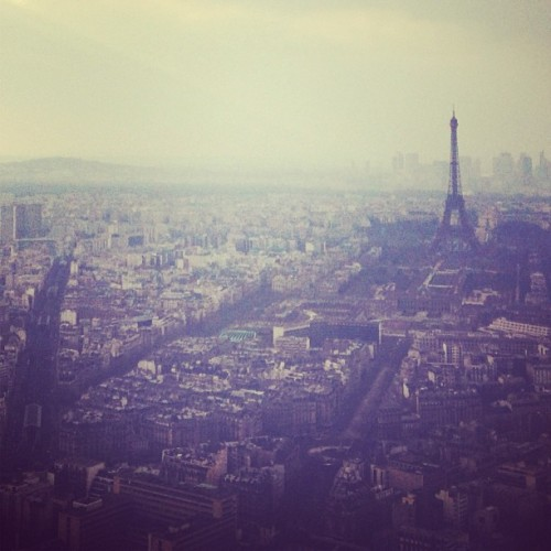 annstreetstudio:  Kissing with a view #Paris