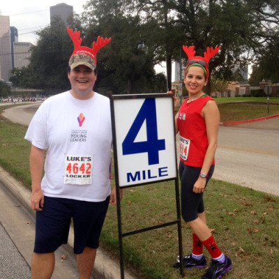 Jingle Bell Run benefiting the YMCA.