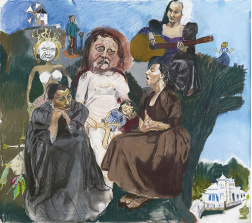 Paula Rego, Dame with the Goat's Foot (II), 2011-12 (singing on the hill-top) Pastel on paper, 150 x 170 cm