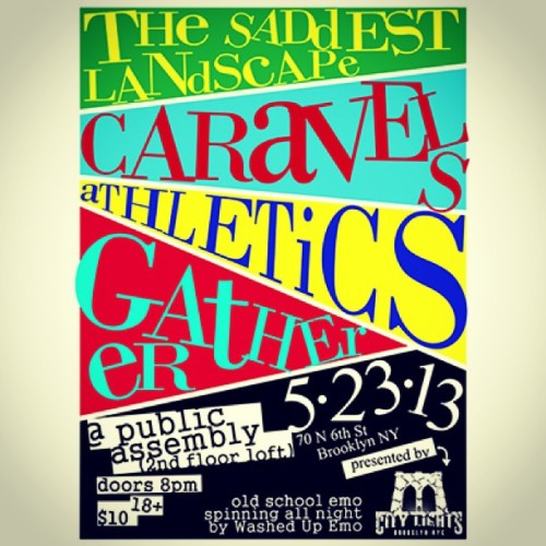 1st show in a while this Thursday in Brooklyn w/ Caravels + more