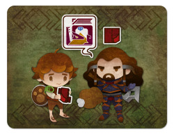 Bilbo is being recruited on a hunting quest… I actually suggested this idea to reapersun before deciding to use it myself, so she did one as well.