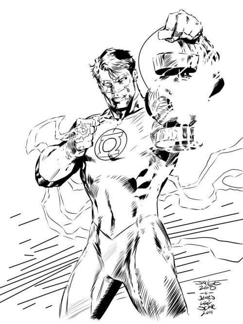 Green Lantern Hal Jordan by Jim Lee