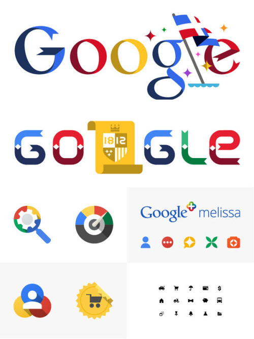 Several Google Designs While working at Google, San Francisco-based graphic designer and illustrator Celeste Prevost had the pleasure to create several illustrations, icons, and logos for Google and its affiliated products. More of the Google graphics on WE AND THE COLORWATC//Facebook//Twitter//Google+//Pinterest