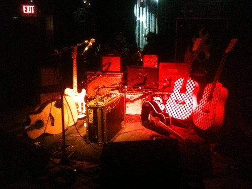 Stage set at The Station in Carrboro, NC… coming back in May and July http://www.ericsommer.com
