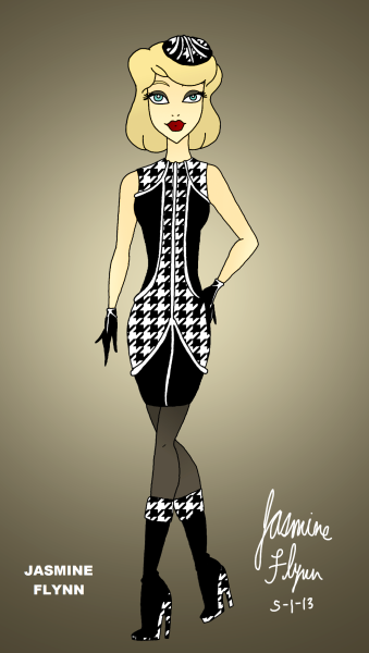 Black and White Pattern Outfit. a digital drawing by me, Jasmine Flynn :)