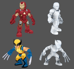 I established the model template (not textures) for all the characters in the Superhero Squad MMO. Ironman and Wolverine were the first characters completed for the prototyping phase.