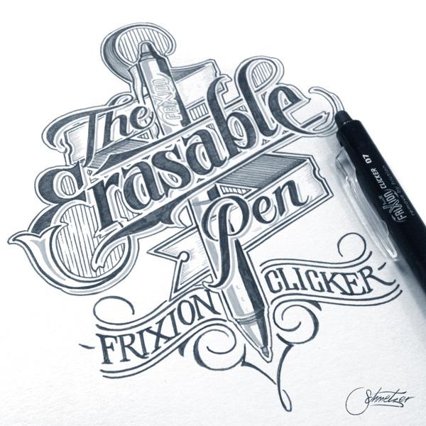 wonderfulgraphicdesign:  The Erasable Pen by Martin Schmetzer Twitter: @graphicdesig_n  Fb: Wonderful Graphic Design