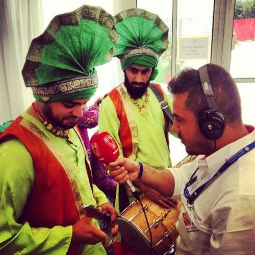 A little radio interview with our dholi and chimta extraordinaires at @bah_int_circuit! #bhangra #bhangraempire #bahraingp2013