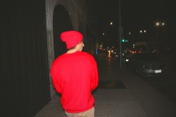 red lyrics beanie street colorful hollywood mayday parade crewneck street lights downtown dreamy new song artsy shit Wesley Stromberg Keaton Stromberg emblem3 TeamInspire red beanie streetlife