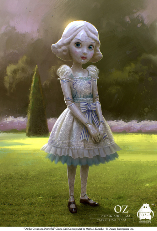 China Girl concept art from Oz the Great and Powerful by Michael Kutsche.