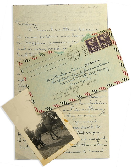 Letter from James Dean to Barbara Glenn, dated 5-19-54,