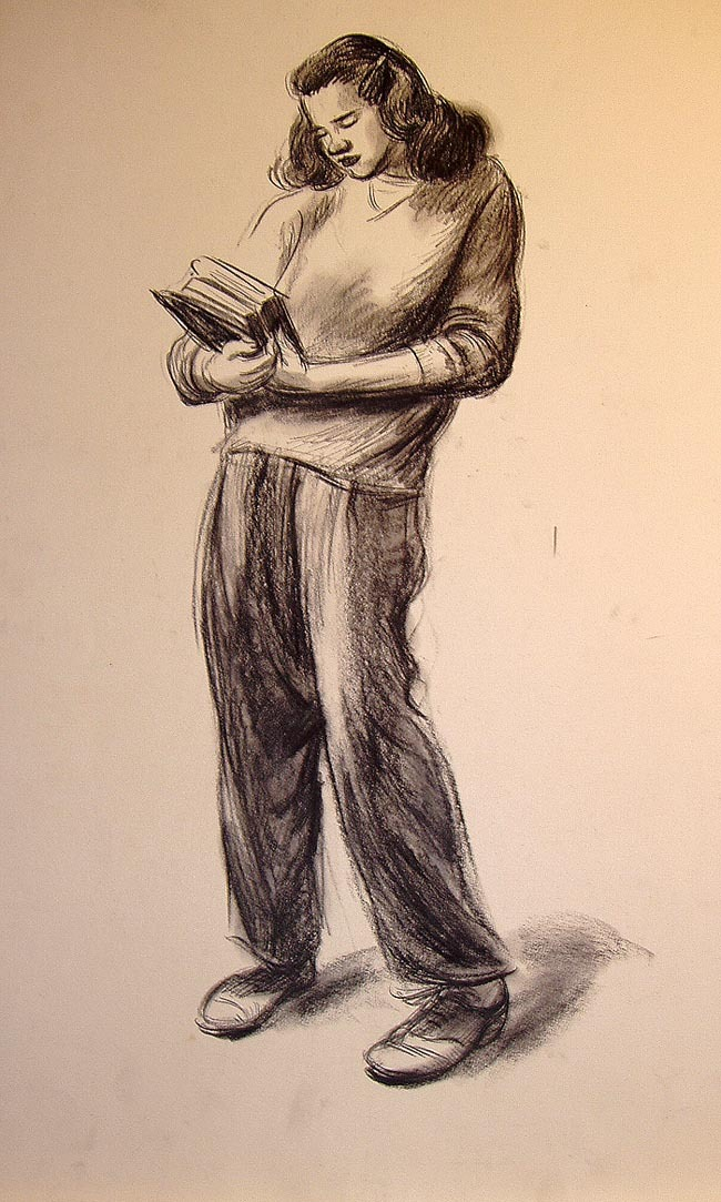 234. Figure drawing by Ward, ca. mid-1940s.