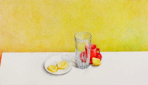 Rose Mary Gonnella-Butler Lemon Slices, Glass and Cup 1983