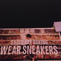 Shoes are boring. Wear Sneakers. @Anomoly for @Converse. #MeatGrinder ^ps #creativeweek #oneshow #print  (at Creative Week)