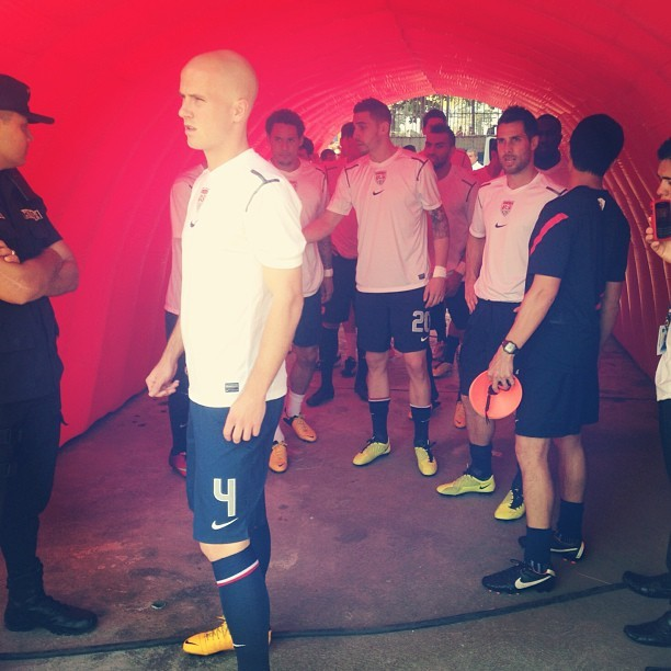 "souslarbre:  ""In the tunnel before warmups…#usmnt out on the field soon."" -ussoccer"
