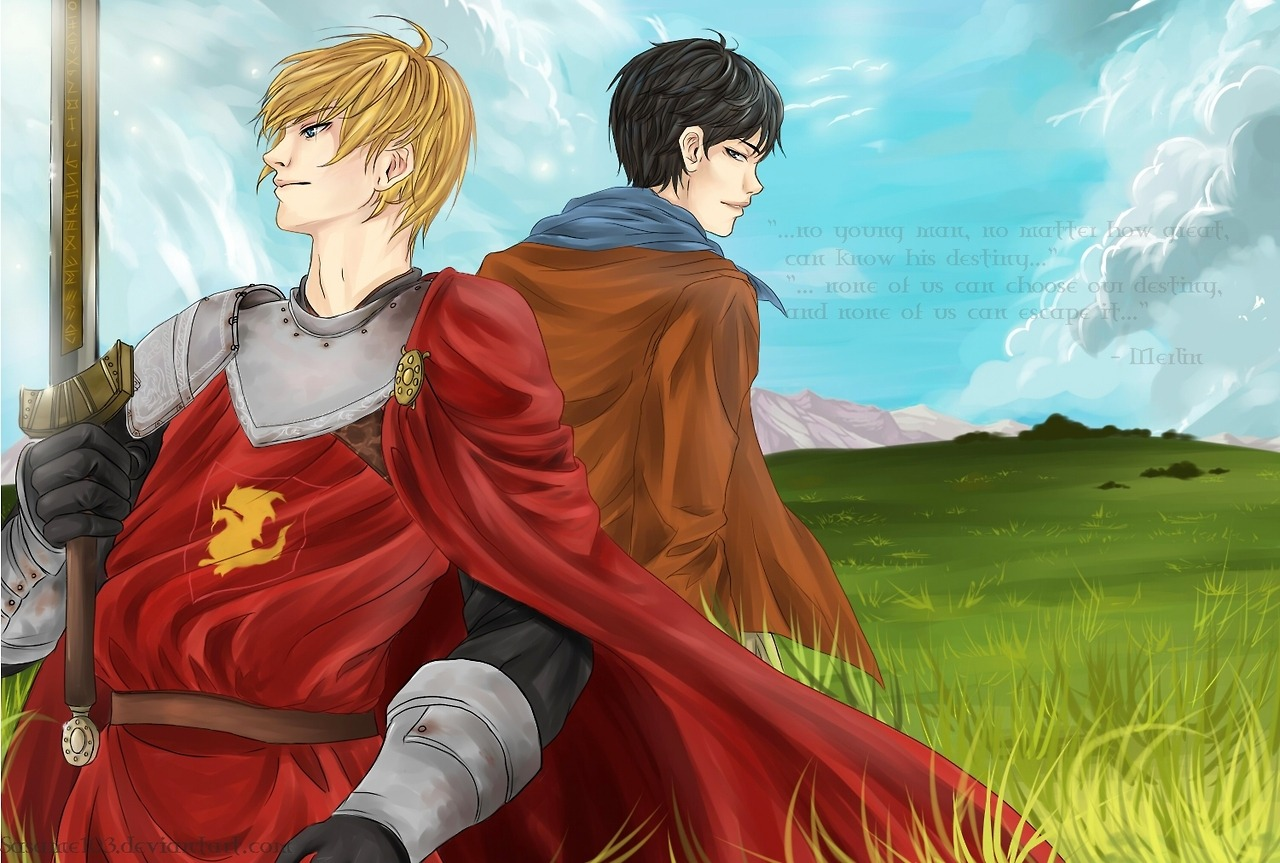 sasame103:  Random Merlin fanart I've been working on for the past week or so. It sucks though. :D