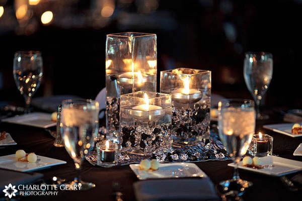 Floating candle centerpieces - Weddingbee