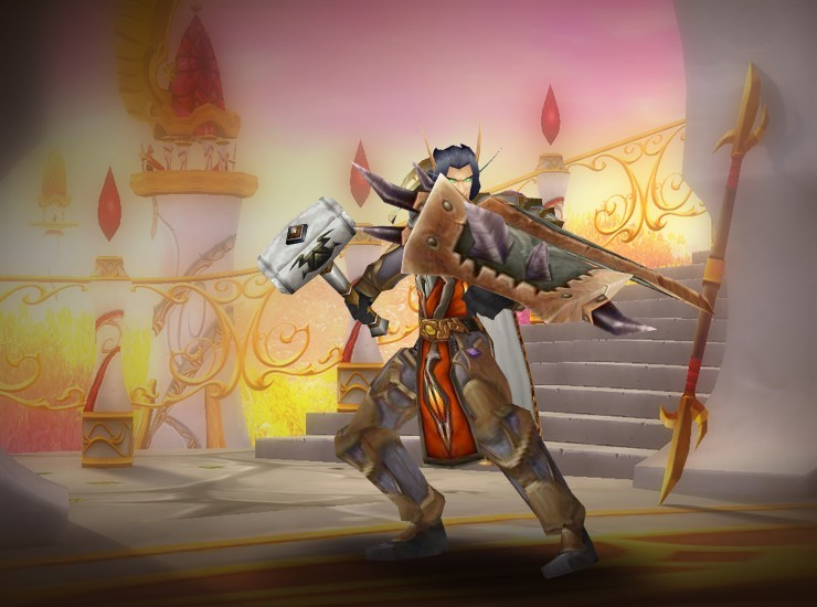 Crusader Bakedpotato Male Blood Elf Paladin US Caelestrasz [Justicar Shoulderplates] [Cloak of Swift Reprieve] [Breastplate of Fierce Survival] [Tabard of the Achiever] [Ri'mok's Shattered Scale] [Justicar Gauntlets] [Crafted Dreadful Gladiator's Clasp of Cruelty] [Justicar Greaves] [Boots of Valiance] [Knight's War Hammer] [Elementium Reinforced Bulwark]