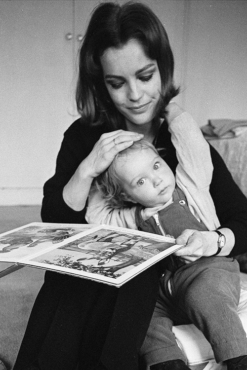 Romy Schneider with son David Christopher in 1968.
