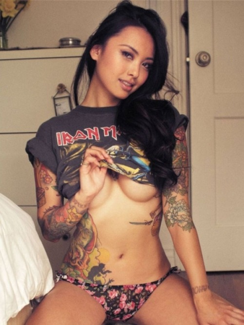 tatsandpiff:  I'd eat this girl out and play with her, all night.