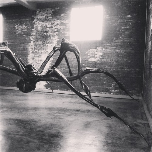 Louise Bourgeois #diabeacon #arachnid #blackandwhite #lastday @wassaicproject