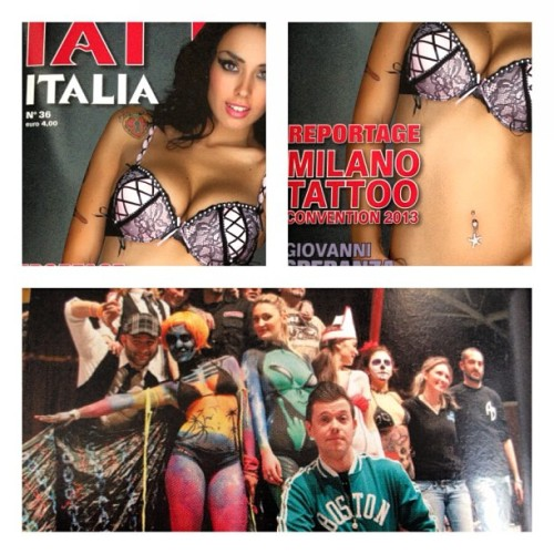 In edicola #TattooItalia N.36 @tattoolifemagazine #18milanotattooconvention #cosedaandrearock