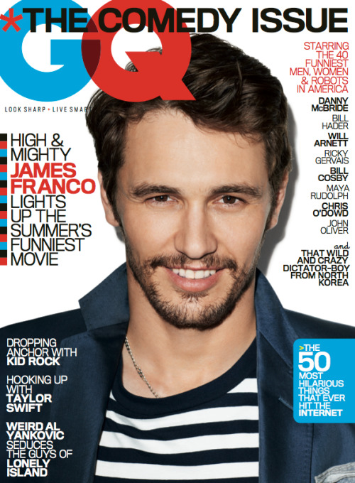 James Franco on the cover of June's GQ — the Comedy Issue!
