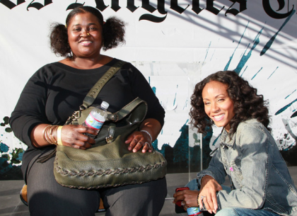Sister Souljah and Jada Pinkett-Smith at Festival of Books, 2011.