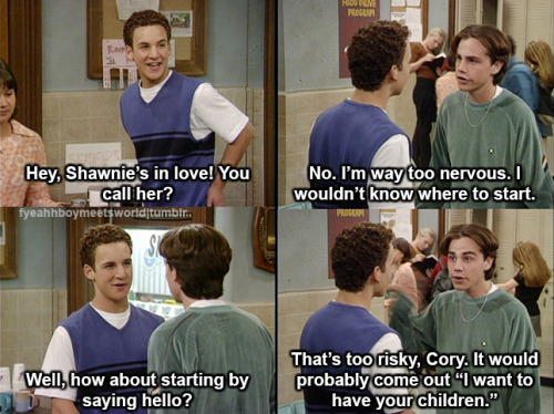 fyeahhboymeetsworld: