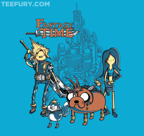 bmo-is-cute:  Fantasy Time t-shirt available for $10 in the next 24 hours on TeeFury!  want more adventure time?