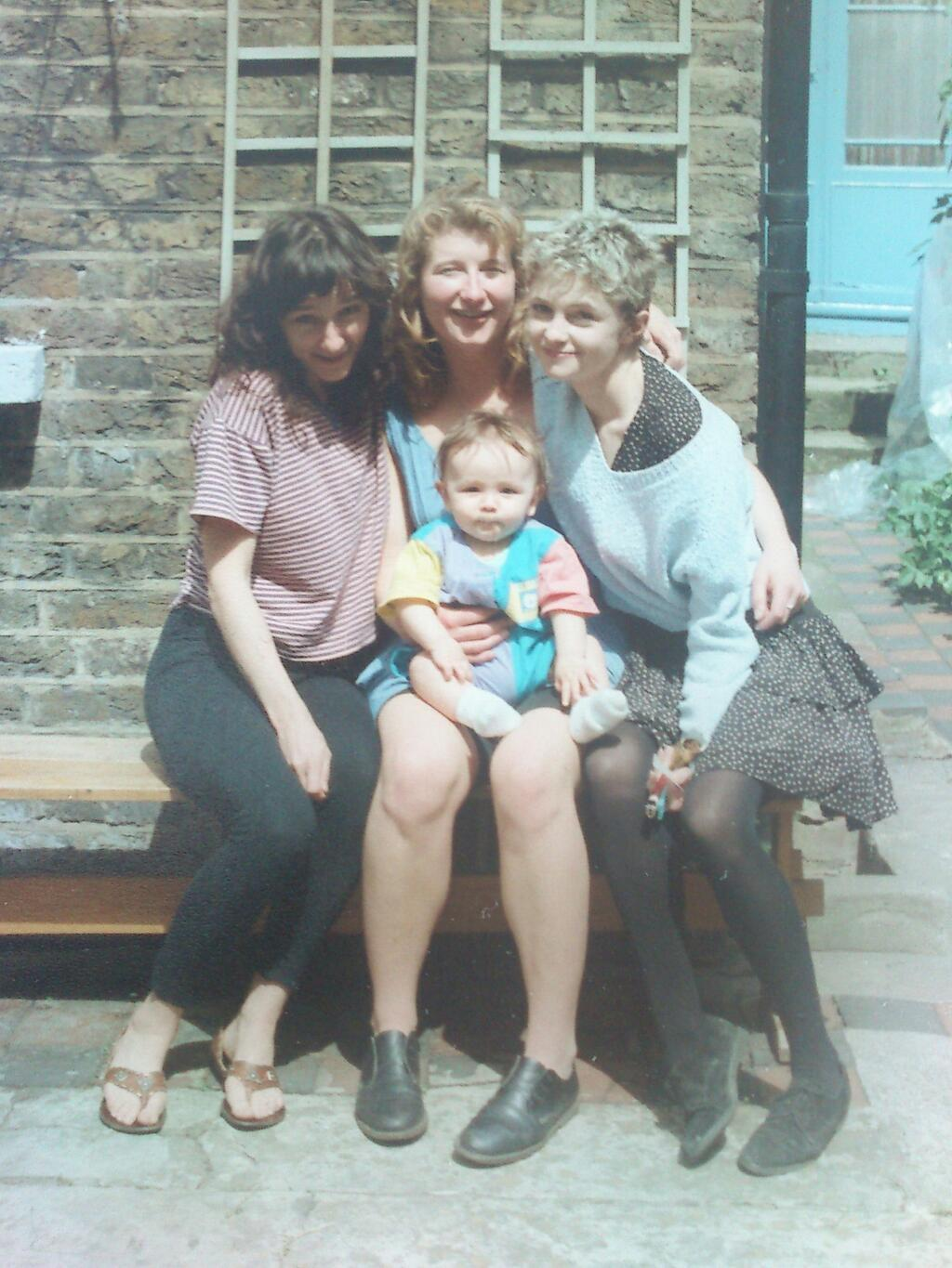 Nostalgia Photo Series (Photo #4) From left to right: Sarah, Sharon, Alison, little Max (North London, early 90's)