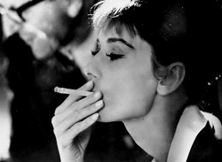 A great capture of Audrey Hepburn.