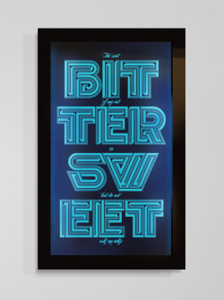 typeverything: Typographic artwork laser engraved onto perspex with backlight by Sawdust